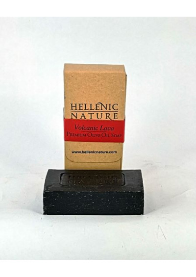 Hellenic Nature olijfolie zeep vulcanic lava 150 gr.